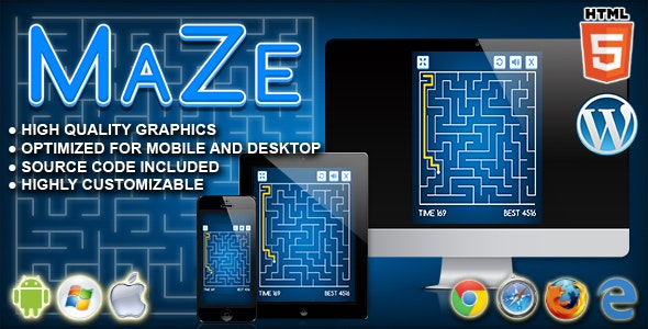 Maze - HTML5 Logic Game - CodeCanyon Item for Sale