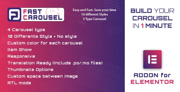Fast Carousel for Elementor - WordPress Plugin