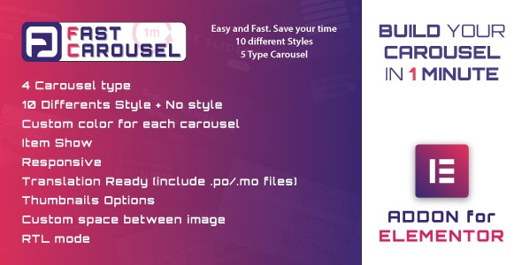 Fast Carousel for Elementor - WordPress Plugin by ad-theme