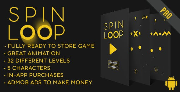 Spin Loop - Fun Arcade Game Android Template + easy to reskine + AdMob
