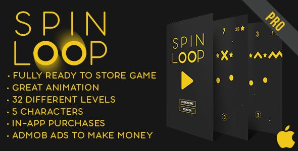 Spin Loop - Fun Arcade Game IOS Template + easy to reskine + AdMob