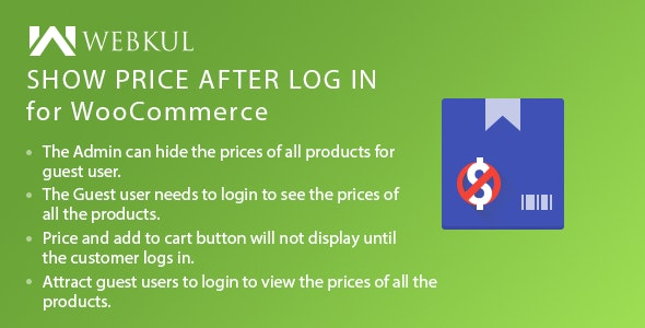 Show Price After Login Plugin for WooCommerce - CodeCanyon Item for Sale