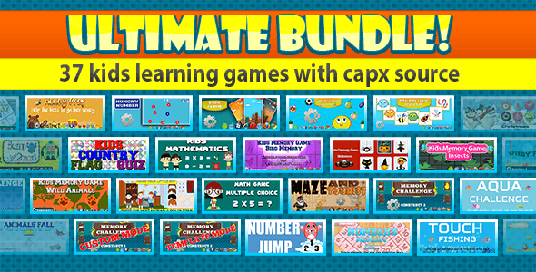 Unlimited Bundle - Kids learning Game - 37 Games