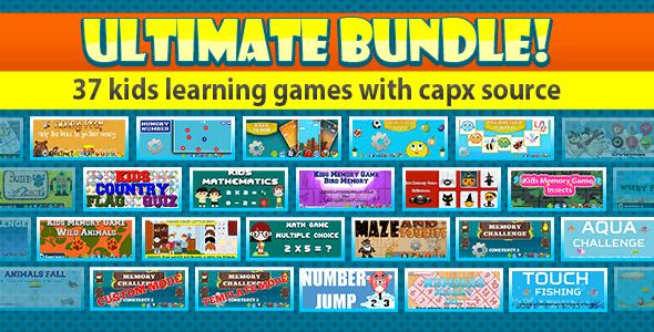 Unlimited Bundle - Kids learning Game - 37 Games