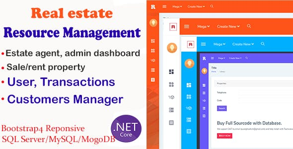 Real Estate Management System CRM Responsive