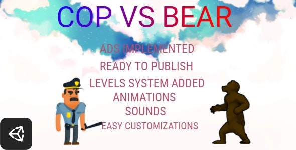 Cop vs Bear - Unity Game - Android & IOS - CodeCanyon Item for Sale