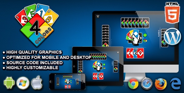Four Colors - HTML5 Card Game - CodeCanyon Item for Sale