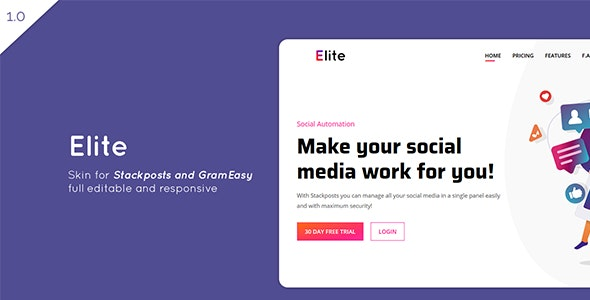 Elite – Theme for Stackposts and GramEasy - CodeCanyon Item for Sale