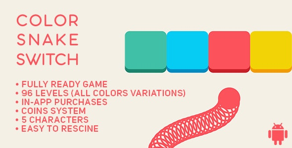 Color Snake Switch - Fun Arcade Game Android Template + easy to reskine + AdMob - CodeCanyon Item for Sale