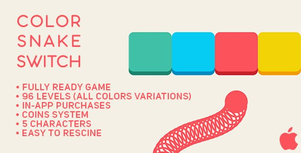 Color Snake Switch - Fun Arcade Game IOS Template + easy to reskine + AdMob