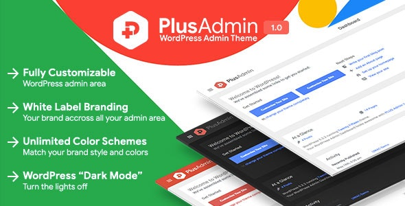 PLUS Admin Theme - WordPress White Label Branding Admin Theme - CodeCanyon Item for Sale