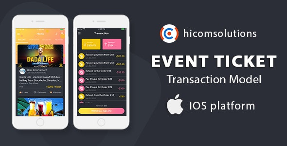 Event Tickets Social Network, Marketplace With Commission Model - iOS - CodeCanyon Item for Sale