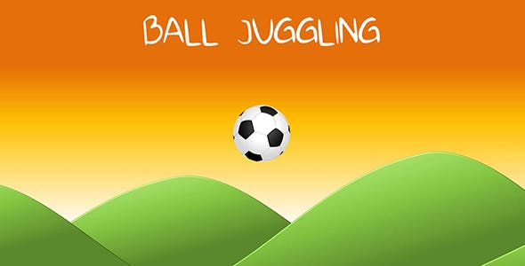 Soccer Ball Finger Juggling - flick the ball 2D - mobile ready Unity3D complete project template