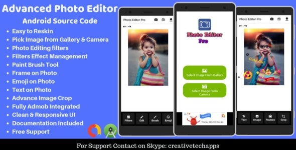 Advanced Photo Editor Android Source Code by