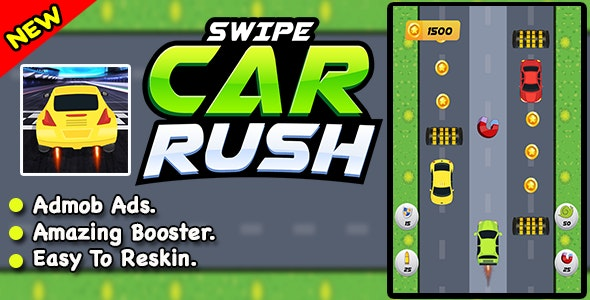 Swipe Car Rush – Ultimate Racing - CodeCanyon Item for Sale