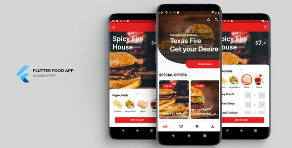 Flutter Food App UI KIT