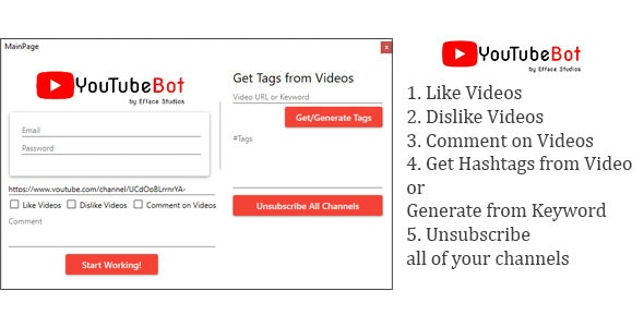 Efface YouTube Bot - Automate Your YouTube Experience - CodeCanyon Item for Sale