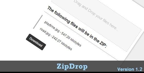 ZipDrop - CodeCanyon Item for Sale