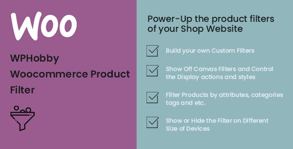 WPHobby WooCommerce Product Filter
