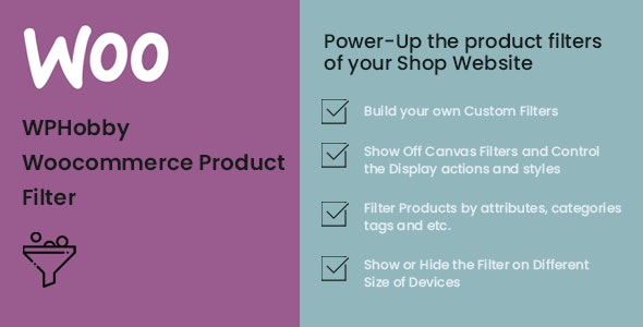 WPHobby WooCommerce Product Filter - CodeCanyon Item for Sale