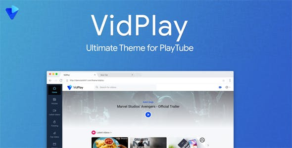 VidPlay - The Ultimate PlayTube Theme