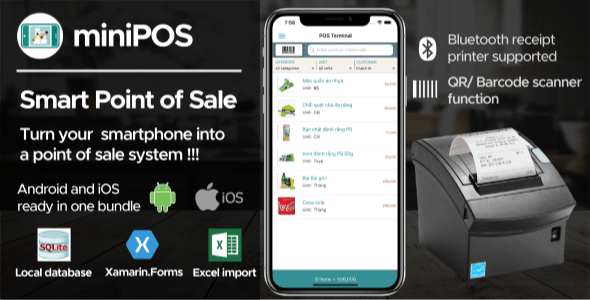 Mobile Point Of Sale Application Xamarin Forms