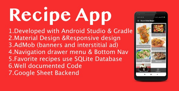 Spicy Recipe App for Android with Google Ads - CodeCanyon Item for Sale