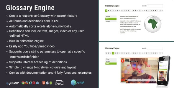 Glossary Engine - CodeCanyon Item for Sale