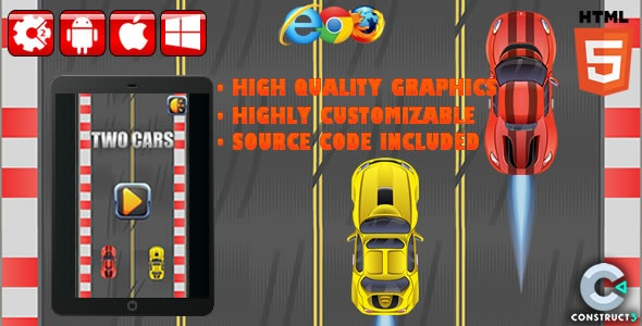 Two Cars - HTML5 Game (CAPX) - CodeCanyon Item for Sale