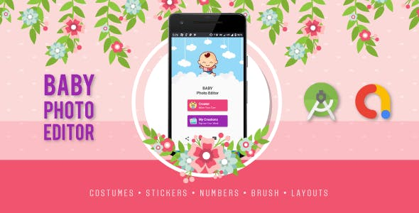 Baby Costume Photo Editor | Templates, Stickers, Numbers, Brush & More | Admob Integrated