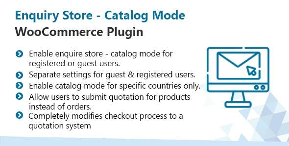 WooCommerce Enquiry Store - Catalog Mode Plugin
