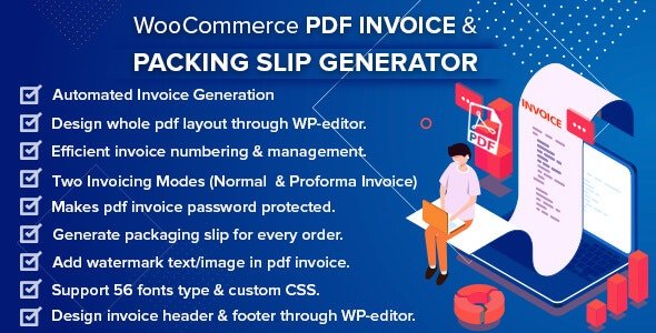 WooCommerce PDF Invoice & Packing Slip with Credit Note - CodeCanyon Item for Sale