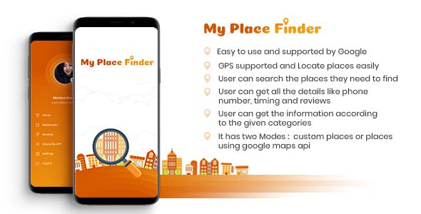 My Place Finder (Full Android App Google + Custom Outlets + Offers + Firebase)
