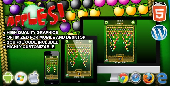 Apples - HTML5 Game - CodeCanyon Item for Sale