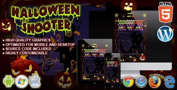Halloween Shooter - HTML5 Game - CodeCanyon Item for Sale