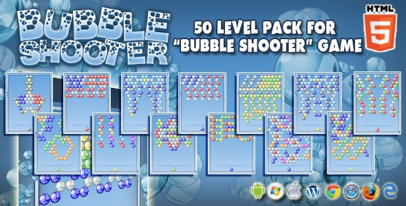 50 Levels Pack for CTL Bubble Shooter Games - CodeCanyon Item for Sale
