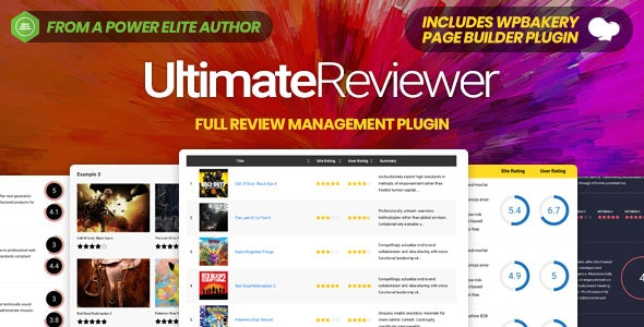 Ultimate Reviewer WordPress Plugin For WPBakery Page Builder - CodeCanyon Item for Sale