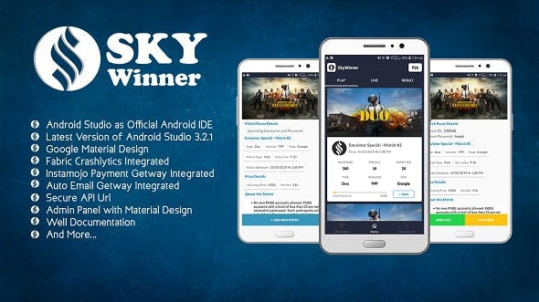 PUBG Tournament App With Admin Panel by skyforcoding | CodeCanyon
