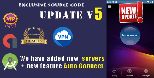 VPN PREMIUM + Monitor  + Manager + New Servers - CodeCanyon Item for Sale