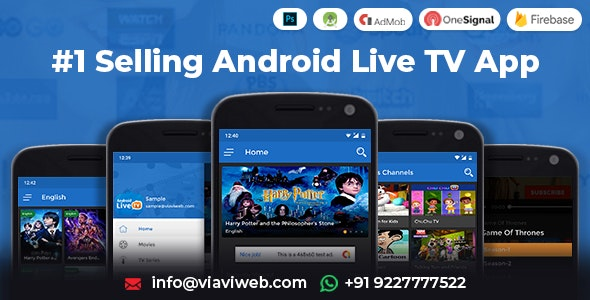 Android Live TV ( TV Streaming, Movies, Web Series, TV Shows