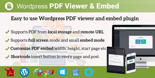 Wordpress PDF Viewer and Embed Plugin