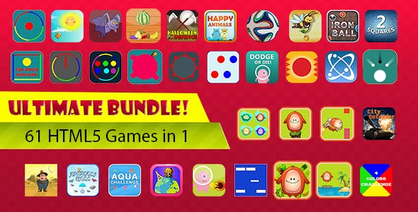 Unlimited Bundle - 61 HTML5 Games With Source