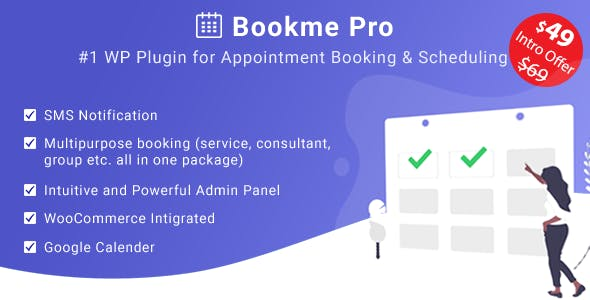Bookme Pro - WordPress Appointment Booking and Scheduling Software