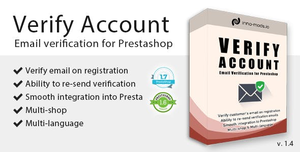 Verify Account for Prestashop