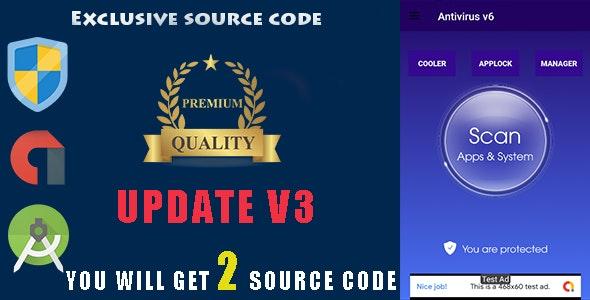 Antivirus + Applock + Booster + Cleaner + AppManager + Cooler ---update v3 --- - CodeCanyon Item for Sale