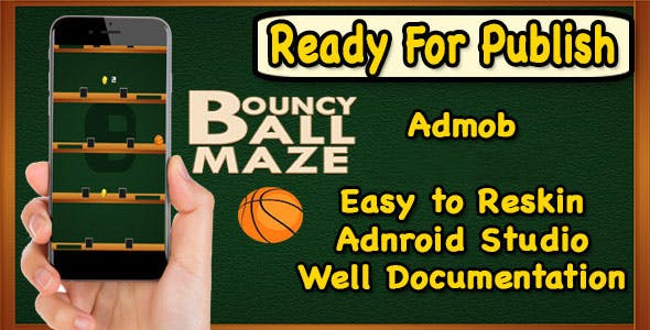 Bouncy Ball Maze - Endless Game - Android Studio - Ready For Publish