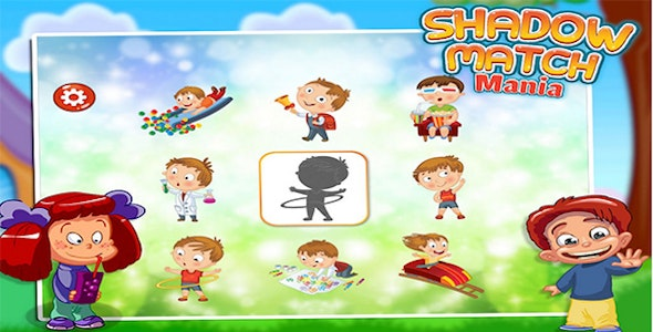 Shadow Match Puzzle - Game For Kids - Android - CodeCanyon Item for Sale