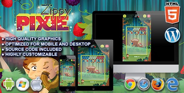 Zippy Pixie - HTML5 Puzzle Game