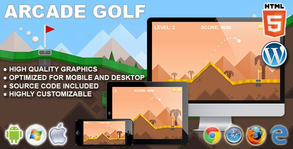 arcade golf html5 sport game by codethislab codecanyon. Black Bedroom Furniture Sets. Home Design Ideas