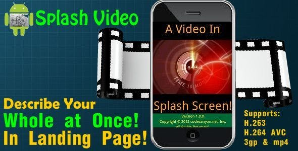 Android Video In Splash Screen!